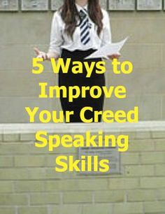 Blog post on some simple skills that will prepare your for learning the FFA Creed. - OLT