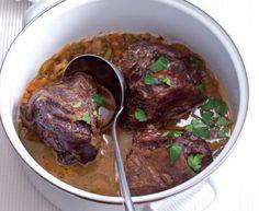 Przepis na policzki wołowe z piwem - Mięso/drób - Apetyt Thing 1, Tasty, Beef, Cooking, Recipes, Meat, Cuisine, Kochen, Rezepte