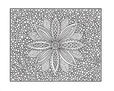 Zentangle Inspired Printable Coloring Page, Zendoodle Flower, Page 10. $2.00, via Etsy.