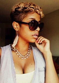 shaved designs for black women on Pinterest | Short Relaxed Hair ...