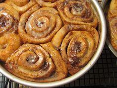 Cinnamon Buns Glazed with Vanilla Coffee Infused Icing