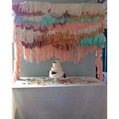Tissue paper backdrop #jesihaackdesign
