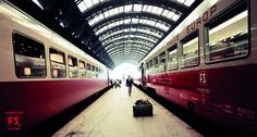 TEE Ligure e Moncenisio sotto le arcate della stazione Centrale di Milano (1969)