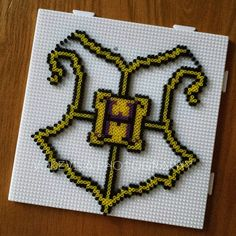 Hogwarts (Harry Potter) - Hama (perler) beads, by Vodevila