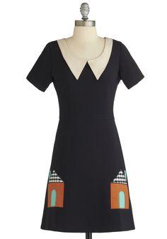Won't You Be My Neighborhood? Dress   Mod Retro Vintage Dresses   ModCloth.com