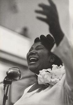Roy DeCarava. Mahalia Jackson, Singing. 1957
