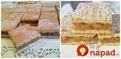 Cukrárske jablkové rezy: Geniálny koláč z prvej republiky, recept zdedený po babičke! High Sugar, Apple Pie, Sweet Recipes, Tiramisu, Cookie Recipes, Cheesecake, Food And Drink, Sweets, Bread