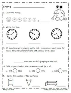 Math for second grade--FREE resources for 2nd grade---great for ...