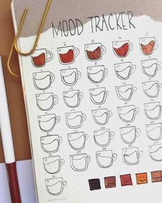 Unique Bullet Journal Mood Tracker Ideas to Ke. Unique Bullet Journal Mood Tracker Ideas to Keep You Mentally Equipped – Minimalist Bullet Journal, Bullet Journal Mood Tracker Ideas, Bullet Journal Notebook, Bullet Journal Spread, Bullet Journal Ideas Pages, Bullet Journal Inspiration, Tracker Mood, Bullet Journal Netflix, Birthday Bullet Journal