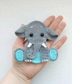 PATTERN Elephant Applique Crochet Pattern PDF Jungle Animal