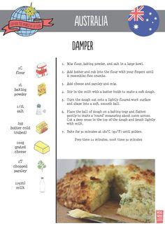 Damper Recipe | Australia | Around the World in 80 Days | Moomookachoo