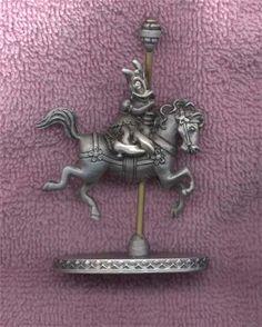 Walt Disney Carousel Horse - Daisy Duck Metal Figurine