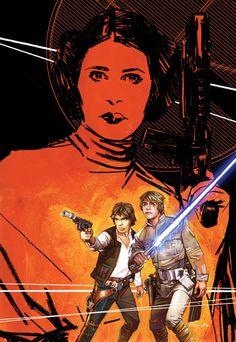 Star Wars - Leia, Han, & Luke by Tommy Lee Edwards