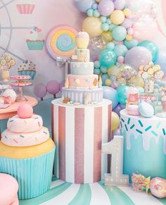 home party ideas Candy Theme Birthday Party, Donut Birthday Parties, Candy Party, 1st Birthday Girls, Birthday Party Decorations, Birthday Cake, Sprinkle Party, Baby Shower, Ideas