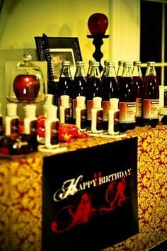 great ideas for vampire birthday party or twilight party
