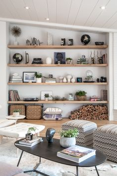 Living room open shelf styling Bethany Nauert's Portfolio - Residential