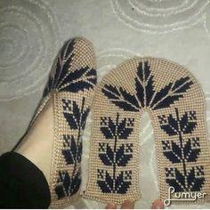 Tunisian Crochet, Chrochet, Cross Stitch Borders, Crochet Slippers, Crochet Home, Needlework, Crochet Patterns, Knitting, How To Make