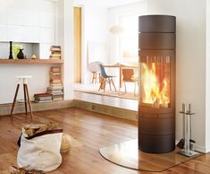 ELEMENTS RUND - Designer Wood burning stoves from Skantherm ✓ all information ✓ high-resolution images ✓ CADs ✓ catalogues ✓ contact information. Pellet Stove, Buffet, Wood Burning, Foyer, Home Appliances, Living Room, Home Decor, Fireplaces, Sweet