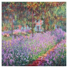 Trademark Art 'The Artist's Garden at Giverny' Painting Print on Canvas by Claude Monet & Reviews | Wayfair