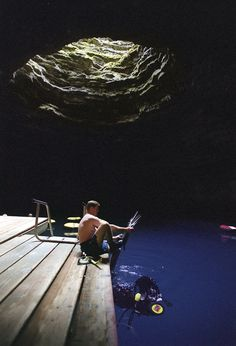 The Crater at the Homestead resort in Midway. 55ft. geothermal underground spring. (Rick Egan | The Salt Lake Tribune)