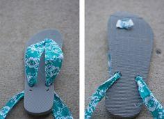 Upcycled flip flops