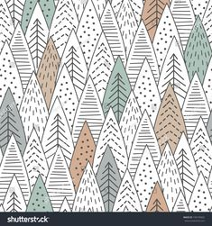 Winter Forest Seamless Pattern Graphical Lines Stock Vector (Royalty Free) 740195602 : Winter forest seamless pattern. Graphical lines and coloring. Scandinavian Style, Scandinavian Pattern, Forest Illustration, Creative Illustration, Pattern Illustration, Hanging Tapestry, Hanging Wall Art, Wall Hangings, Vector Pattern
