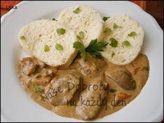 Kuřecí játra na smetaně,se slaninou a  čerstvou paprikou Hummus, Stew, Great Recipes, Chicken Recipes, Sweet Home, Food And Drink, Lunch, Treats, Cooking