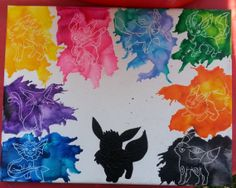 Melted Sihlouette Fox With 8 Evolutions Crayon by MeltedHappiness, $45.00