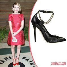 806fa90e0a3a Emma Roberts in Brian Atwood Kaela Pointed-Toe Pumps - ShoeRazzi Celebrity  Shoes
