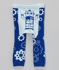 Look what I found on #zulily! Blue Robot Leggings - Infant by Doodle Pants #zulilyfinds