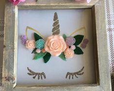 Items similar to Unicorn frame. pink on Etsy Unicorn Cards, Unicorn Gifts, Shadow Box Art, Shadow Box Frames, Girls Bedroom, Bedroom Ideas, Box Frame Art, Unicorn Bedroom, Adult Crafts