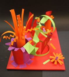 Wow - fun paper sculpture!  Teaches great fine motor, folding, and construction skills. can be 3d matisse