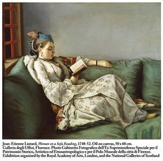 Jean-Etienne Liotard, Woman on a Sofa Reading, 1748-52.