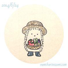 Garden hat hedgehog