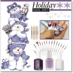 """""""Holiday Nail Art"""" by stephlo-1 on Polyvore"""