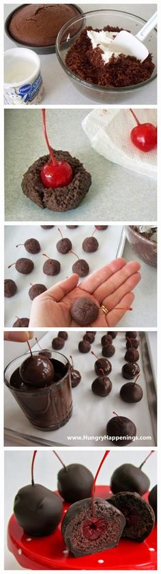 Sweet Chocolate Cherry Bombs