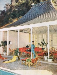 Babe Paley at home in Jamaica, 1956