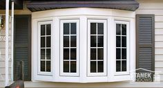 [ Bow Window White Four Lite With Colonial Grids Images Related Keywords Amp Suggestions ] - Best Free Home Design Idea & Inspiration Aluminium Windows, Wood Windows, Custom Windows, Big Windows, Cheap Wall Art, Window Styles, Home Design Plans, Modern Exterior, Window Design