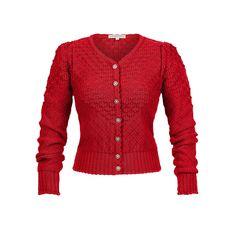 Soferl Weste Kirsche - Knitwear - Tradition - Online Shop - Lena Hoschek Online Shop