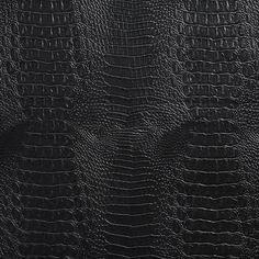 Black Reptile Snake Skin Look Vinyl Upholstery Fabric