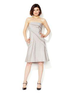 Giorgio Armani  Silk Tiered Strapless Dress