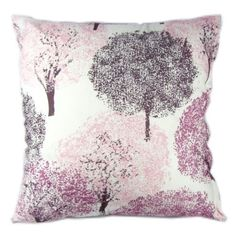 Pink Sakura Trees Floral Print Reactive Dyeing Polyester Throw Pillow Covers Pillowcase Sham Decor Cushion Slipcovers Square 20x20 Inch Add it to your wishlist at yourwishfromme.com