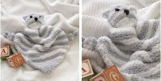 This adorable Cuddle Bear knitted blankie is the perfect snoozing buddy. It will instantly be your wee one's favorite pal! Get the FREE pattern for . Baby Knitting Free, Knitting Patterns Free, Free Pattern, Baby Accessories, Cuddle, Knits, Baby Kids, Knit Crochet, Bear