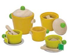 Tea for two with the Plan Toys Tea Set. Made from rubberwood and PlanWood, great for imaginary play and learning social skills. Available at Hello Charlie.
