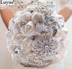Cheap Wedding Bouquets, Buy Directly from China Suppliers:	Gorgeous Wedding Flowers Bridal Bouquets Elegant Pearl Bride Bridesmaid Wedding Bouquet Crystal Sparkle 2015 New buque