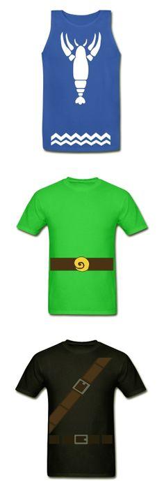 The Legend of Zelda themed shirts via @L a guarida geek - The Wind Waker - Green tunic - Dark Link
