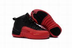 promo code 68308 1ac0e Buy 2016 Discount Nike Air Jordan 12 XII Kids Basketball Shoes Black Red  Child Sneakers from Reliable 2016 Discount Nike Air Jordan 12 XII Kids  Basketball ...
