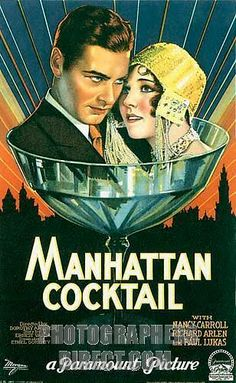 kingy graphic design history: ROXY: 1920's Cocktails