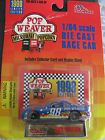 New 1998 Pop Weaver 1:64 Scale Die Cast Race Car w/ Stand & Collector Card