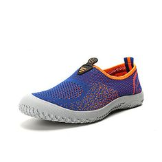 Men Mesh Color Match Breathable Soft Casual Sport Slip On Flat Shoes - NewChic Mobile.